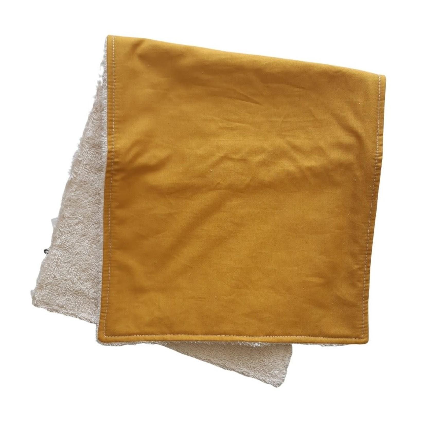 Mini Madz Mini Madz Organic Burp Cloth - Solid Mustard