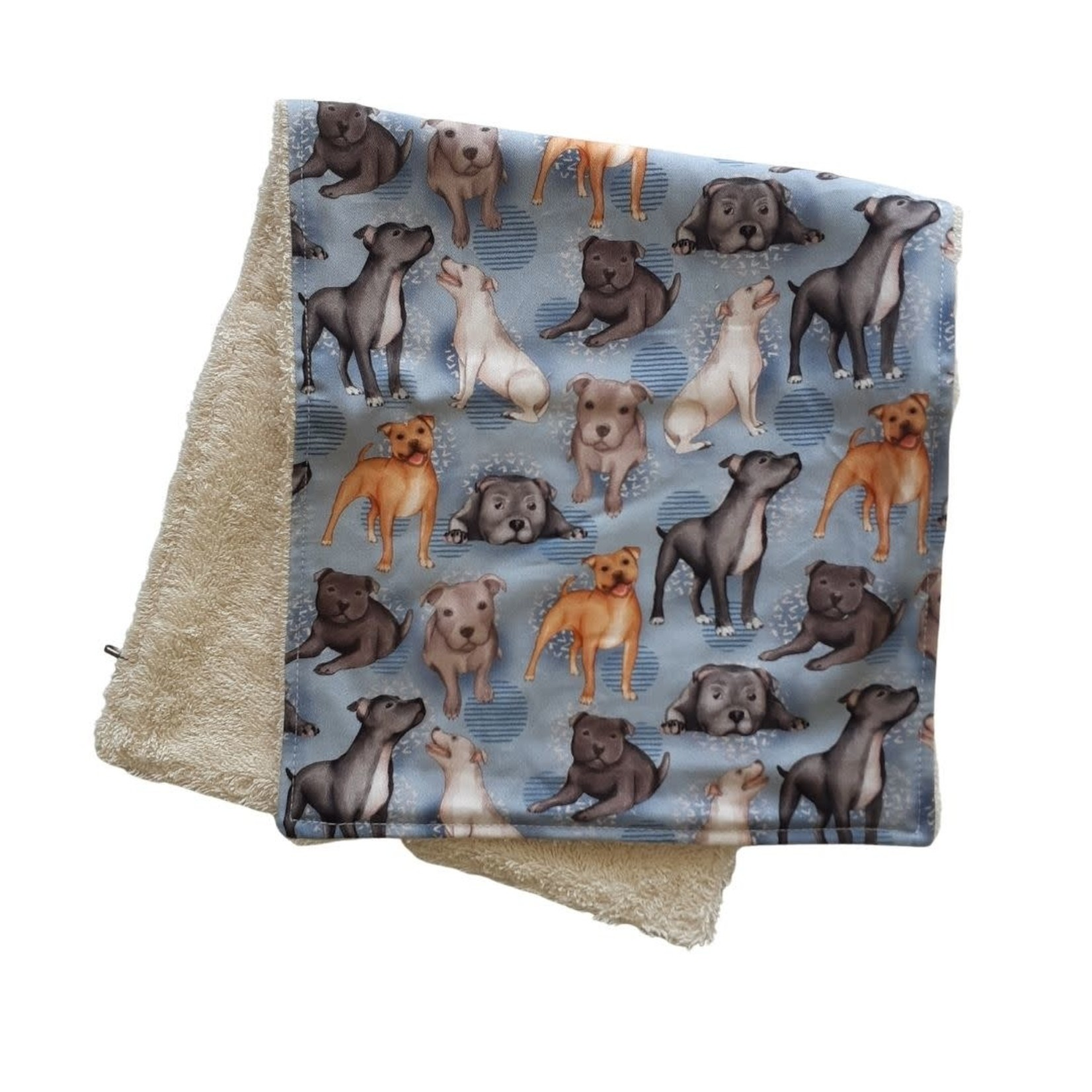 Wacky Wardrobe Mini Madz Organic Burp Cloth - Staffy