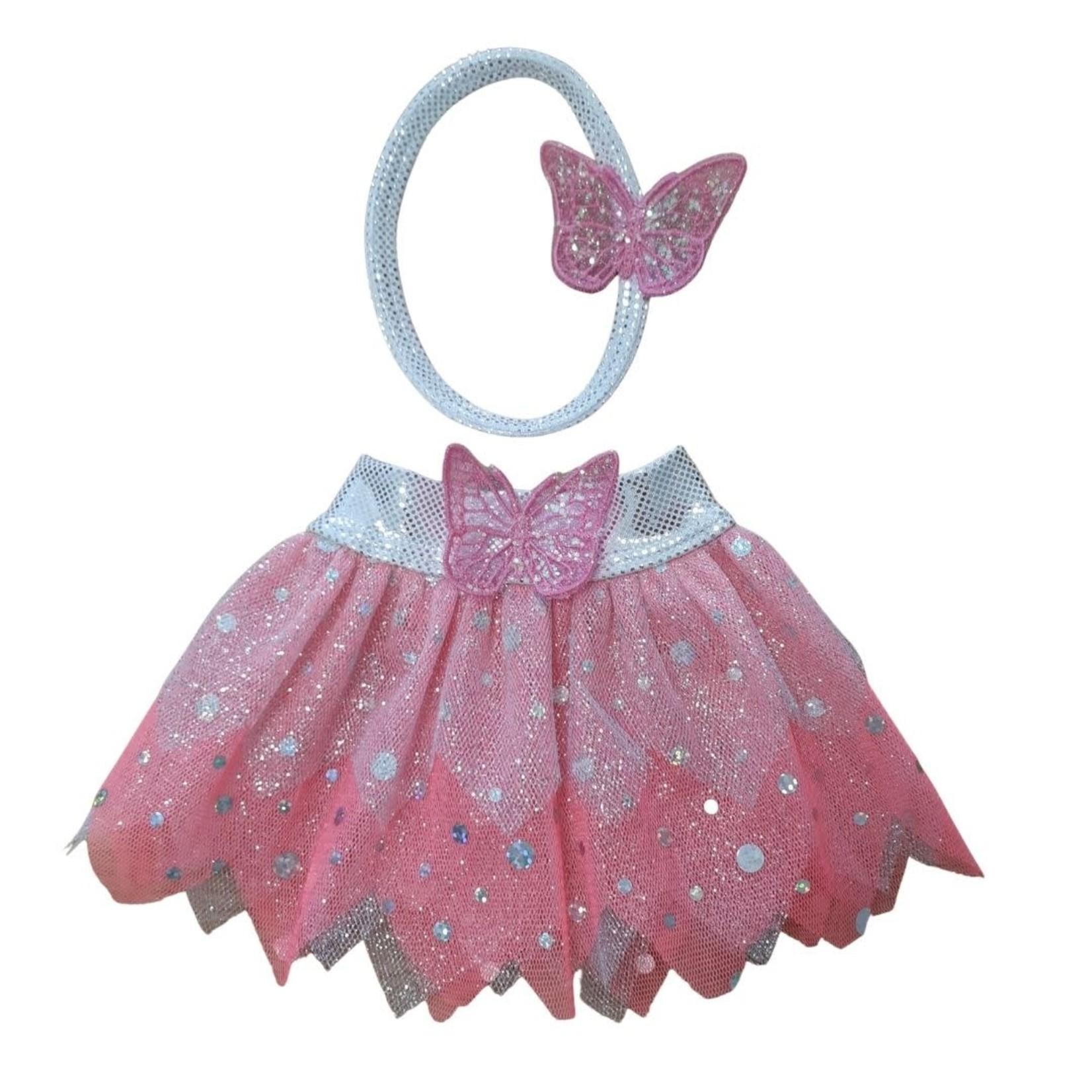Wacky Wardrobe Wacky Wardrobe 38cm Tutu and Heaband Set - Pink