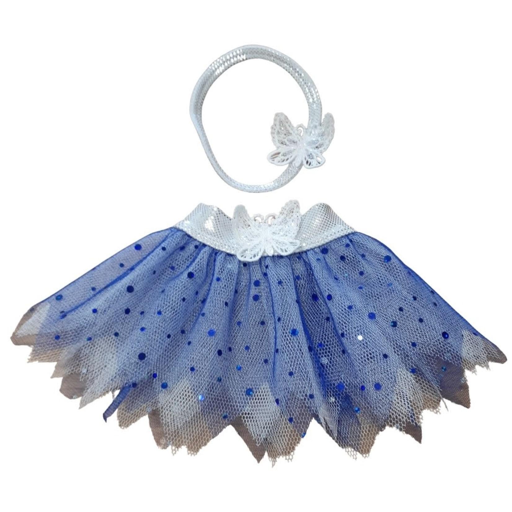 Wacky Wardrobe Wacky Wardrobe 38cm Tutu and Headband Set - Blue
