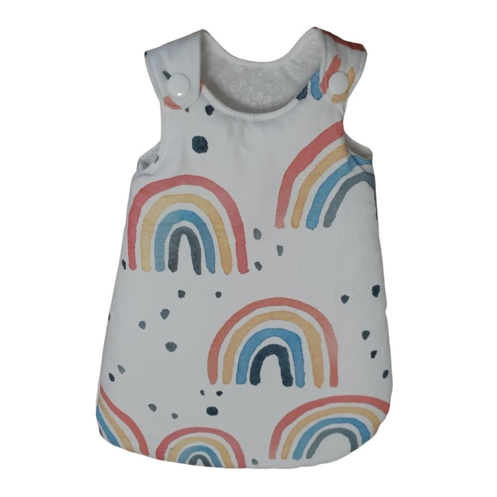 Wacky Wardrobe Wacky Wardrobe 38cm Doll Sleeping Bag Rainbow