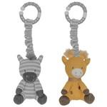 Lively Living Living Textiles 2pk Stroller Toy - Giraffe & Zebra