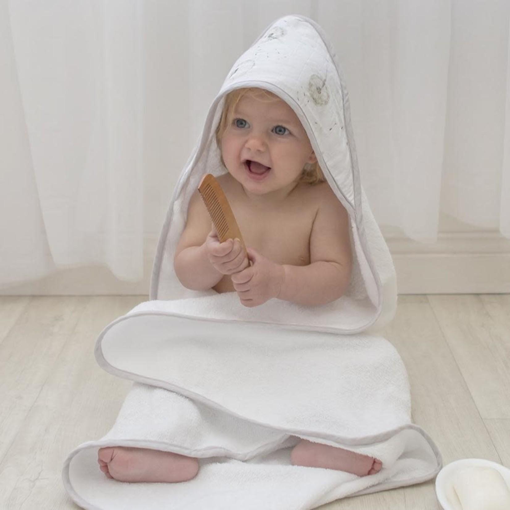 Living Textiles Living Textiles Organic Hooded Towel - Dandelion