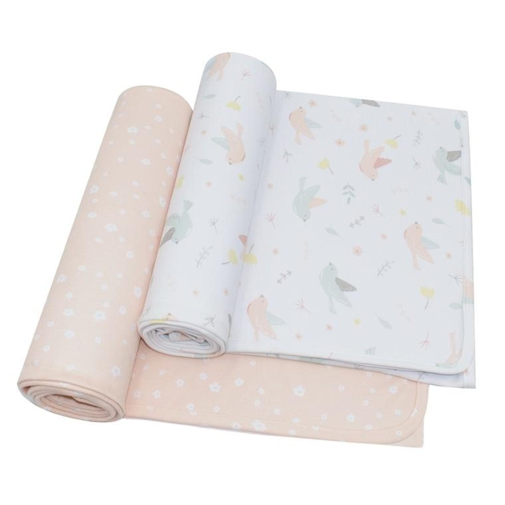 Living Textiles Living Textiles Jersey Wraps 2 Pack  - Ava/Blush Floral