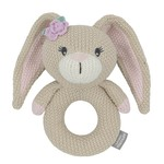 Living Textiles Living Textiles Knitted Ring Rattle - Amelia the Bunny