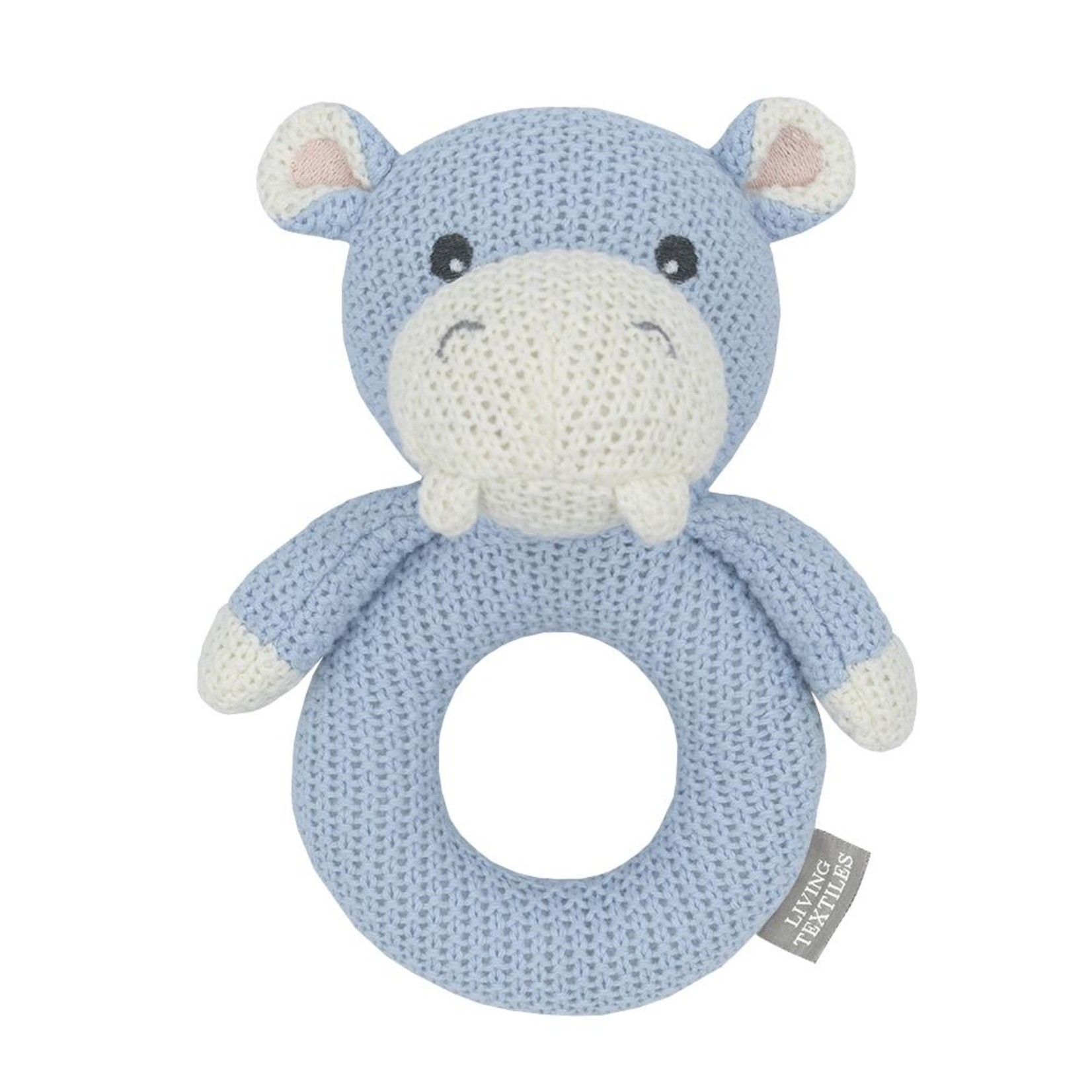Living Textiles Living Textiles Knitted Ring Rattle - Henry the Hippo