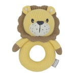 Living Textiles Living Textiles Knitted Ring Rattle - Leo the Lion