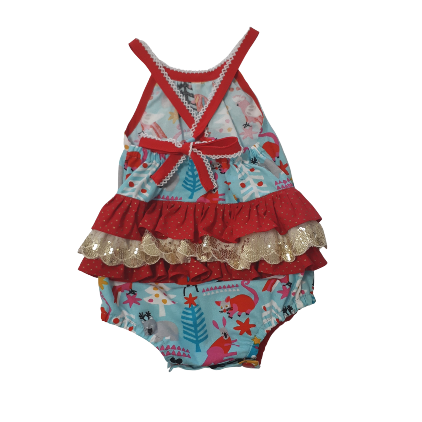 Penny's Pieces Penny's Pieces Aussie Animals Girls Xmas Romper