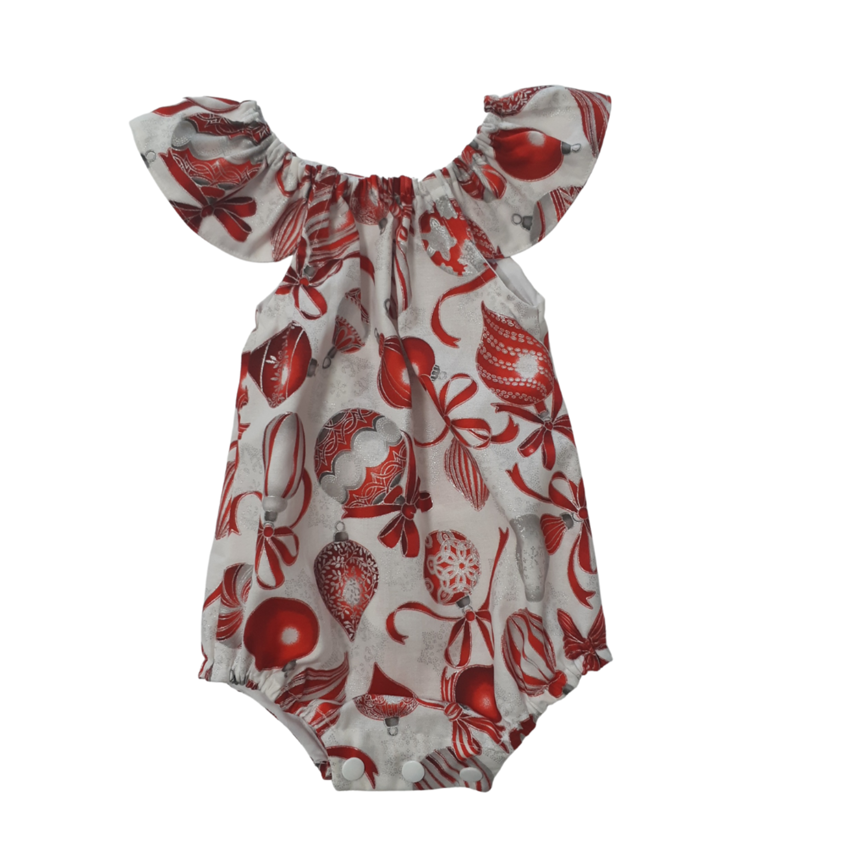 Cadby Cottage Cadby Cottage Xmas Seaside Romper - Red Baubles