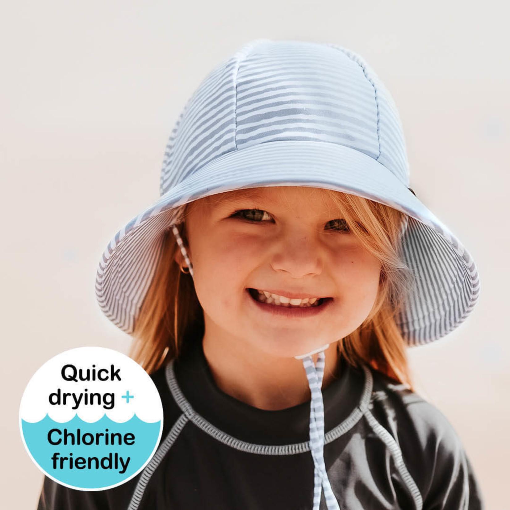 Bedhead Hats Bedhead Beach/Swim  Bucket Hat - Stripe (Light Blue)