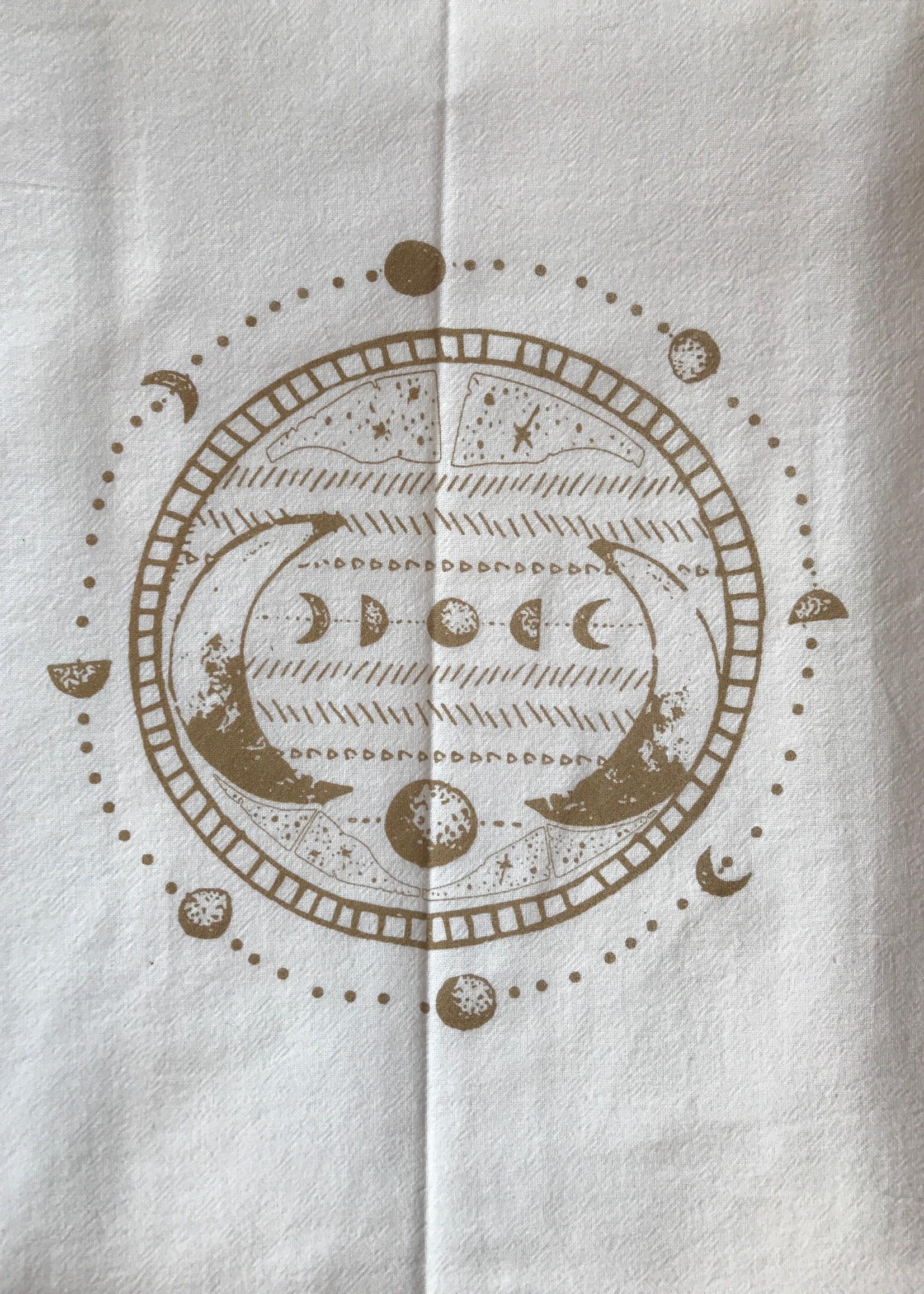 Screen Printed Dish Towel Moon Phase