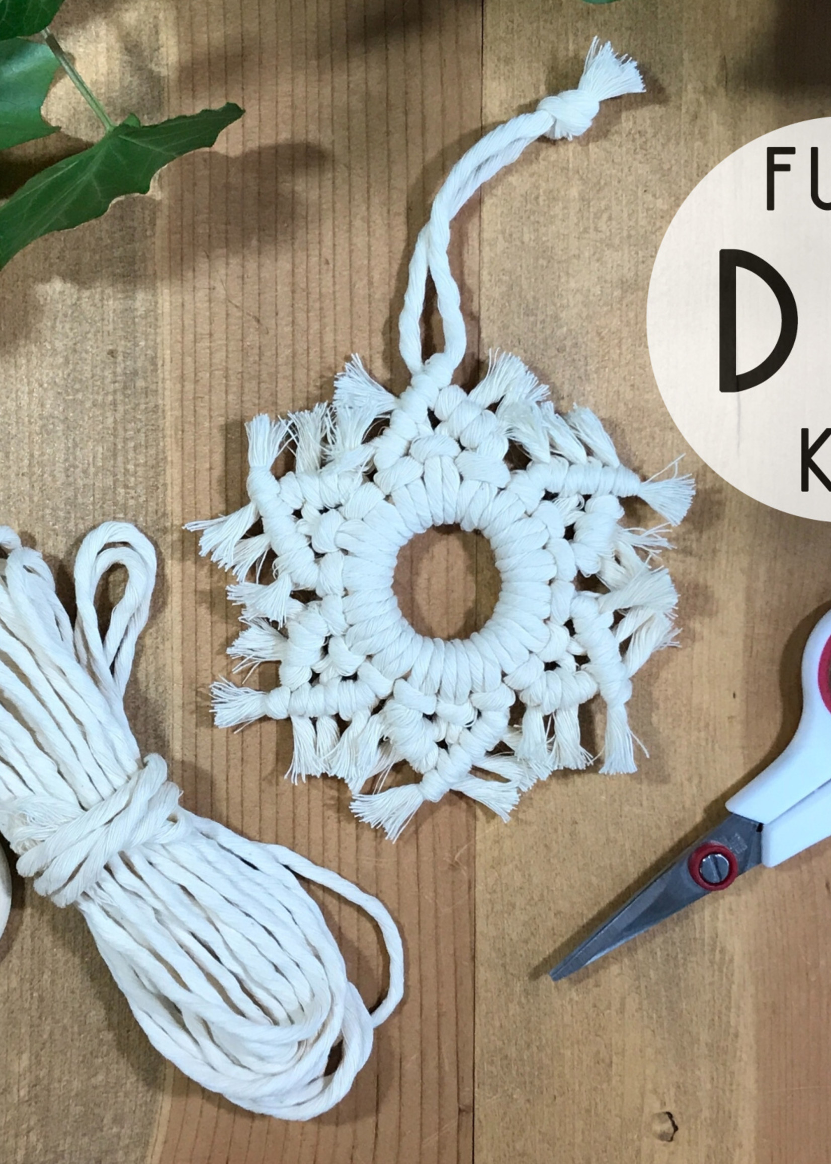 DIY snowflake Macrame Kit