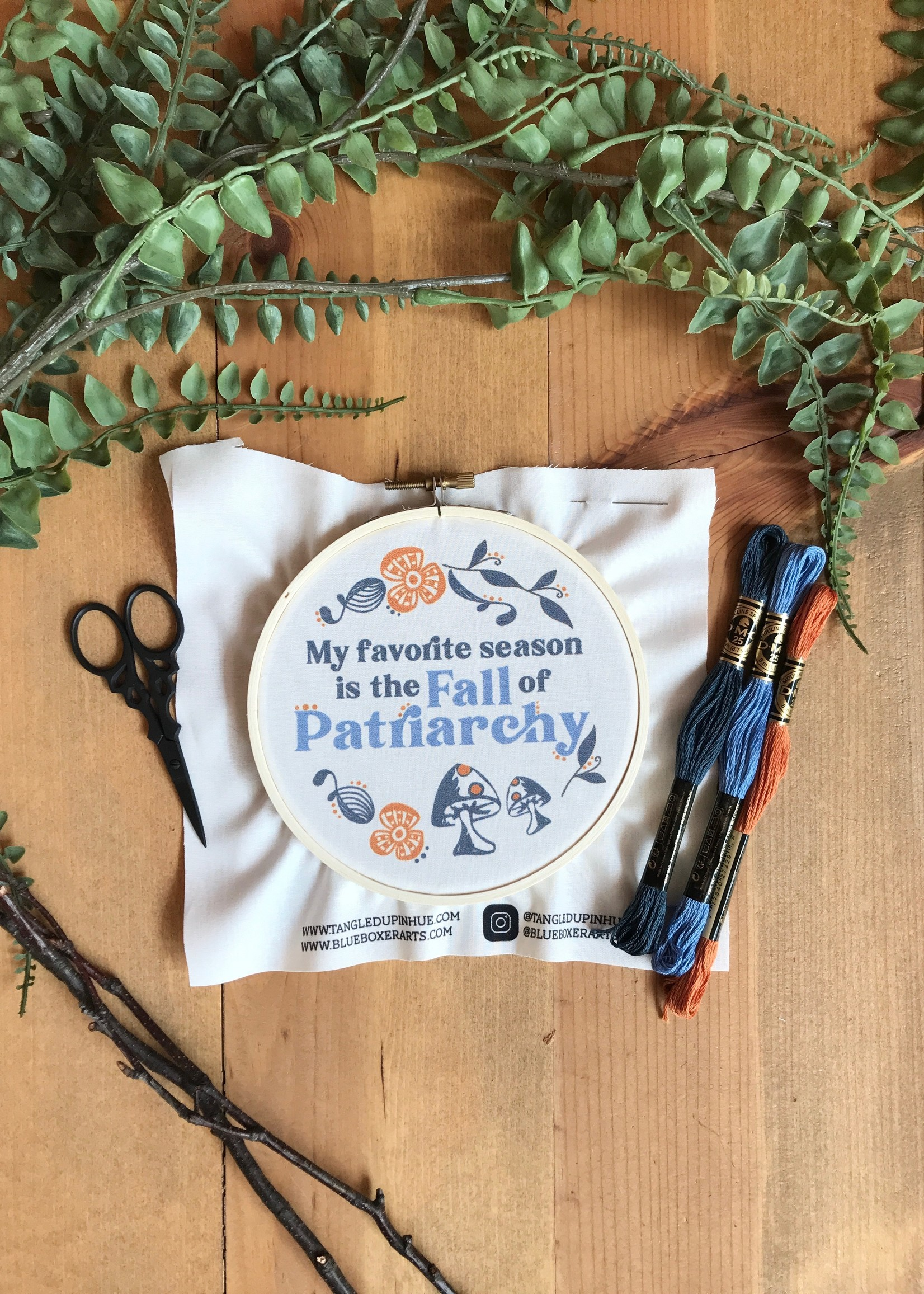 DIY Stitch Kit - My Favorite Season is the Fall of Patriarchy