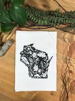 Screen Printed Dish Towel Wisconsin Nature