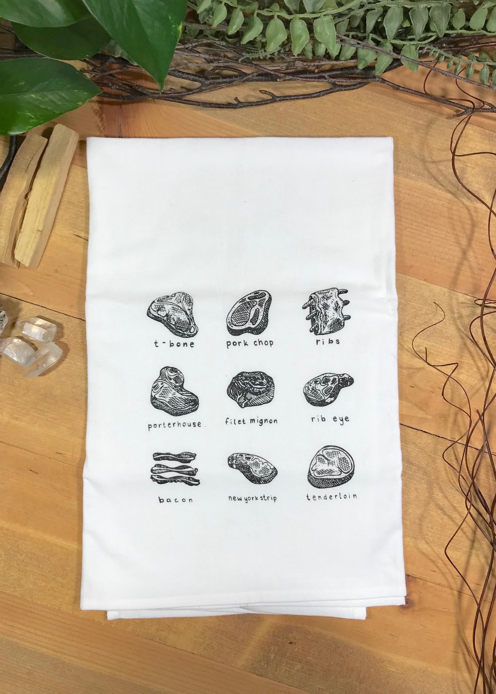 Screen Printed Dish Towel Meat Lover