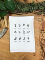 Screen Printed Dish Towel Herb Lover