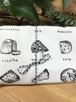 Screen Printed Dish Towel Cheese Lover
