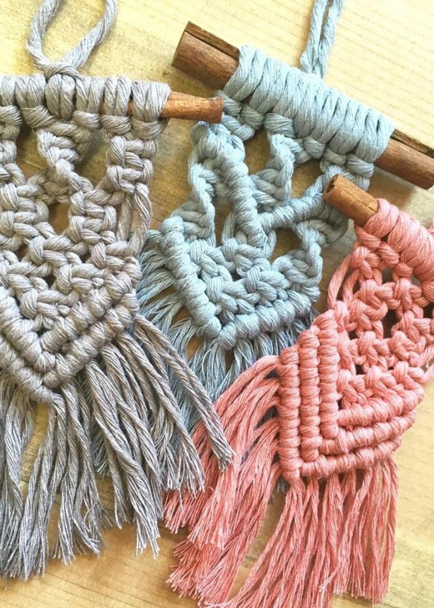 DIY Cinnamon Stick Macrame Kit