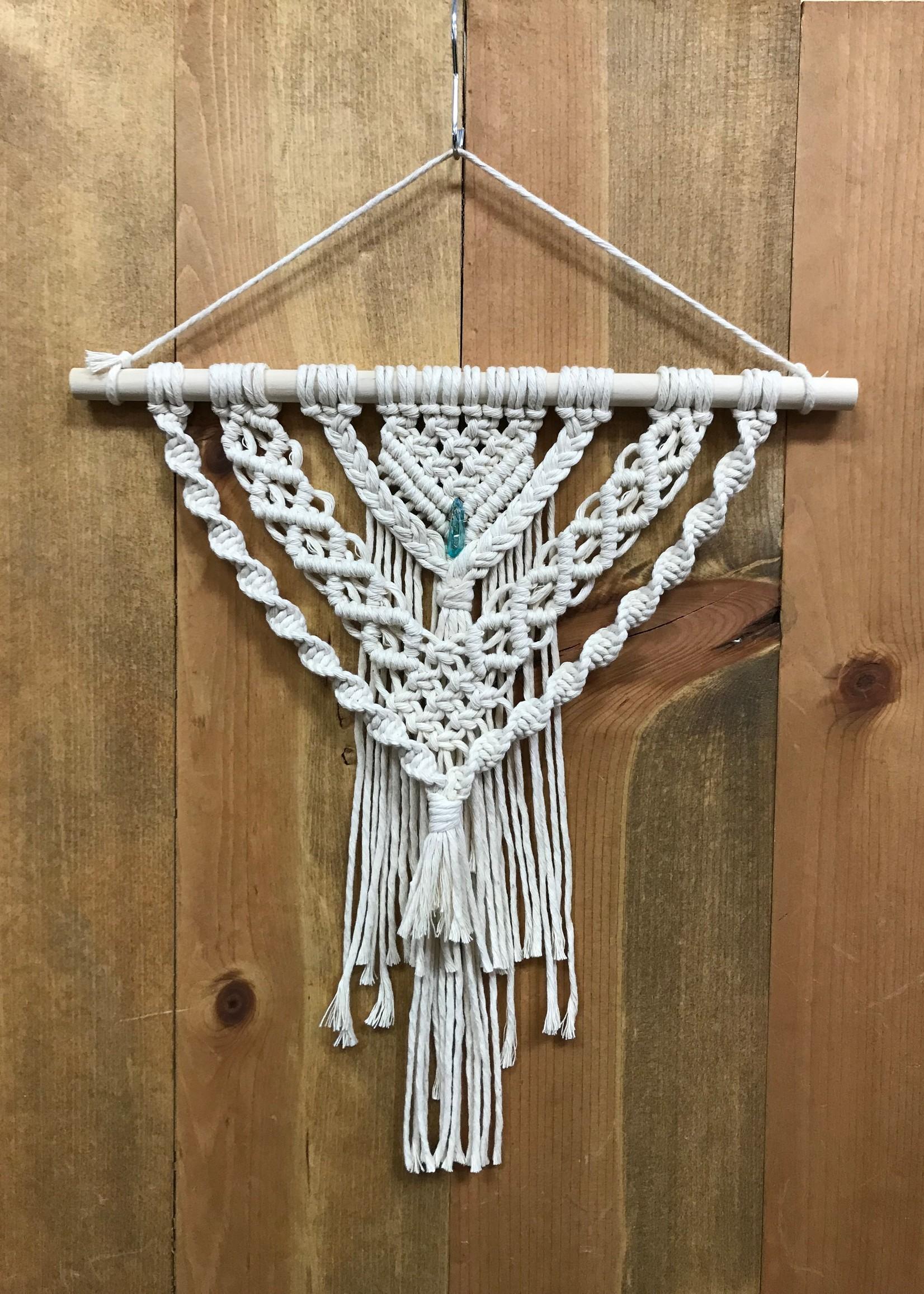 DIY Macrame Layered Crystal Wall Hanging Kit