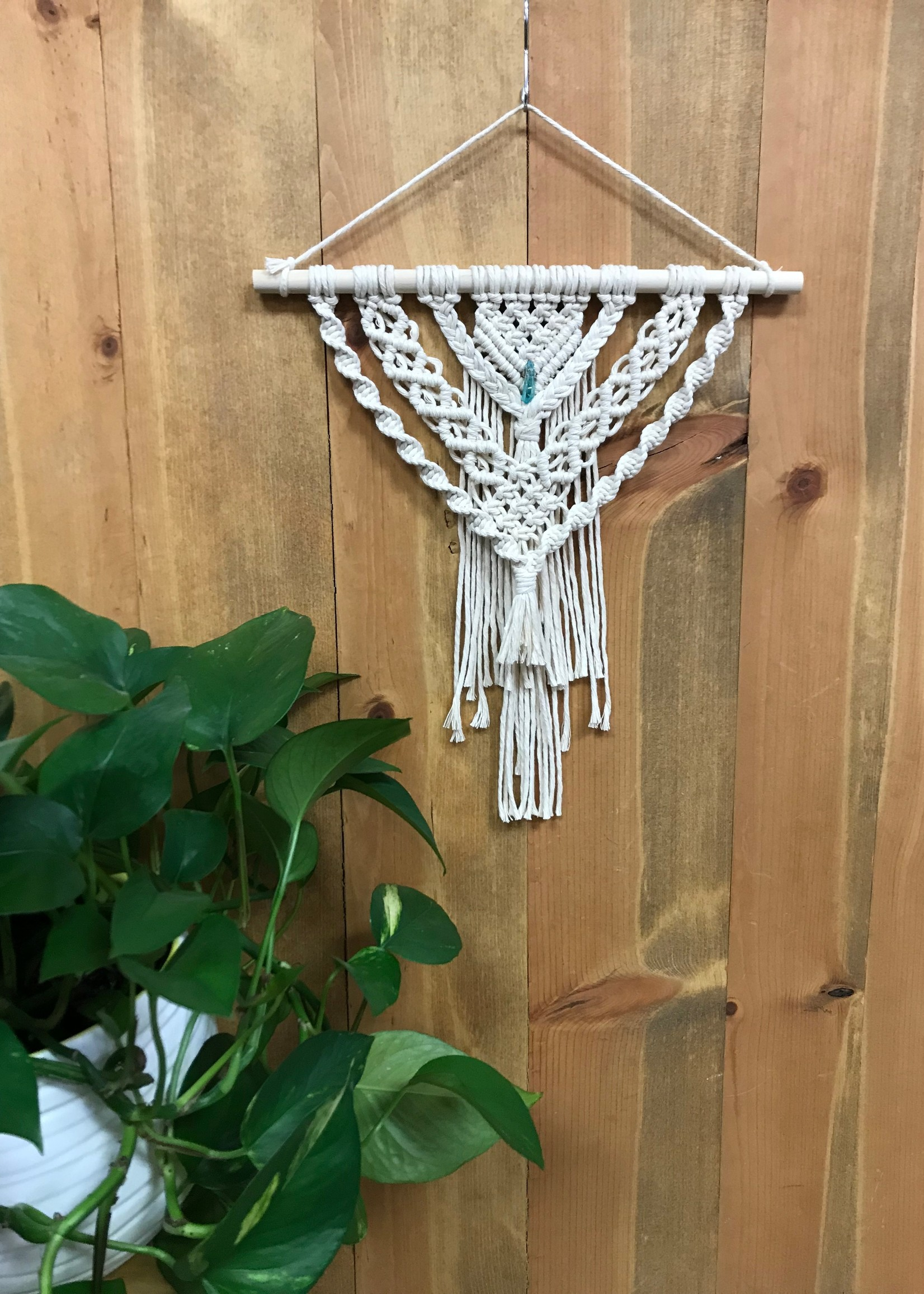 DIY Macrame Layered Crystal Wall Hanging Kit