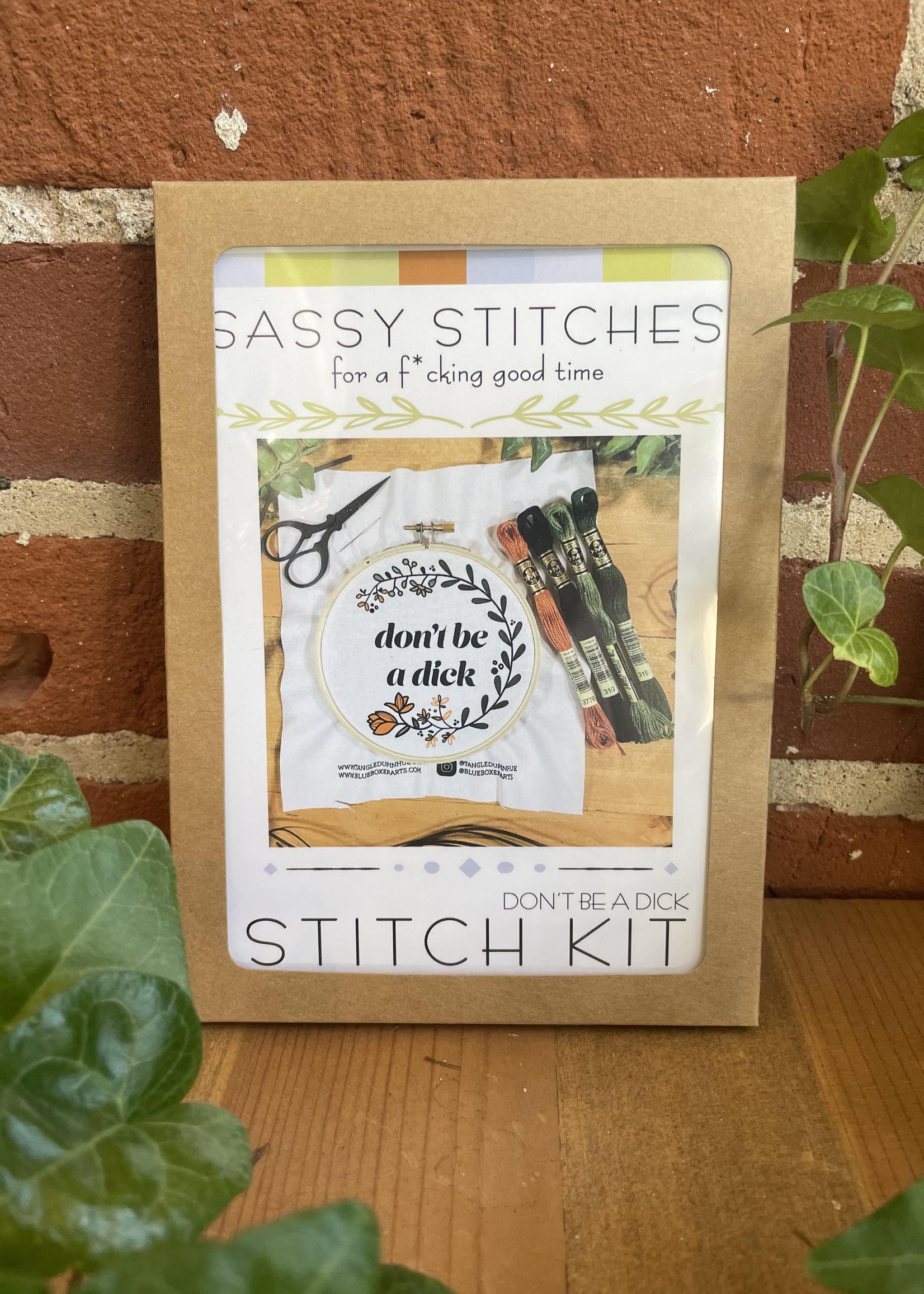 DIY Stitch Kit - Don't Be a Dick