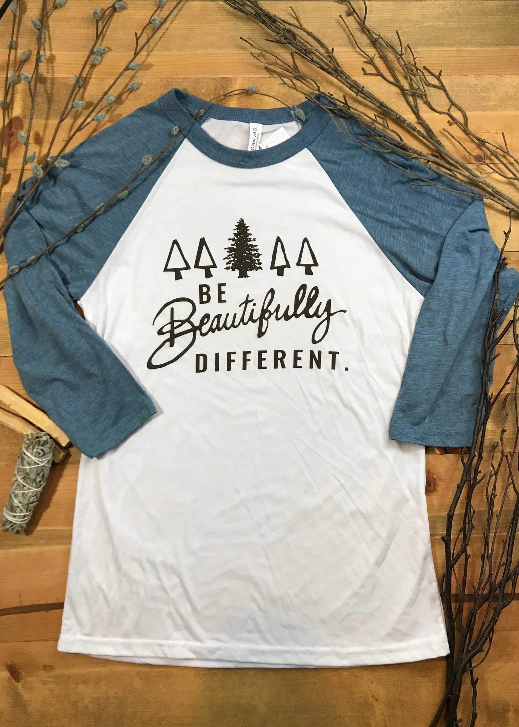 Be Beautifully Different Adult Baseball T-Shirt