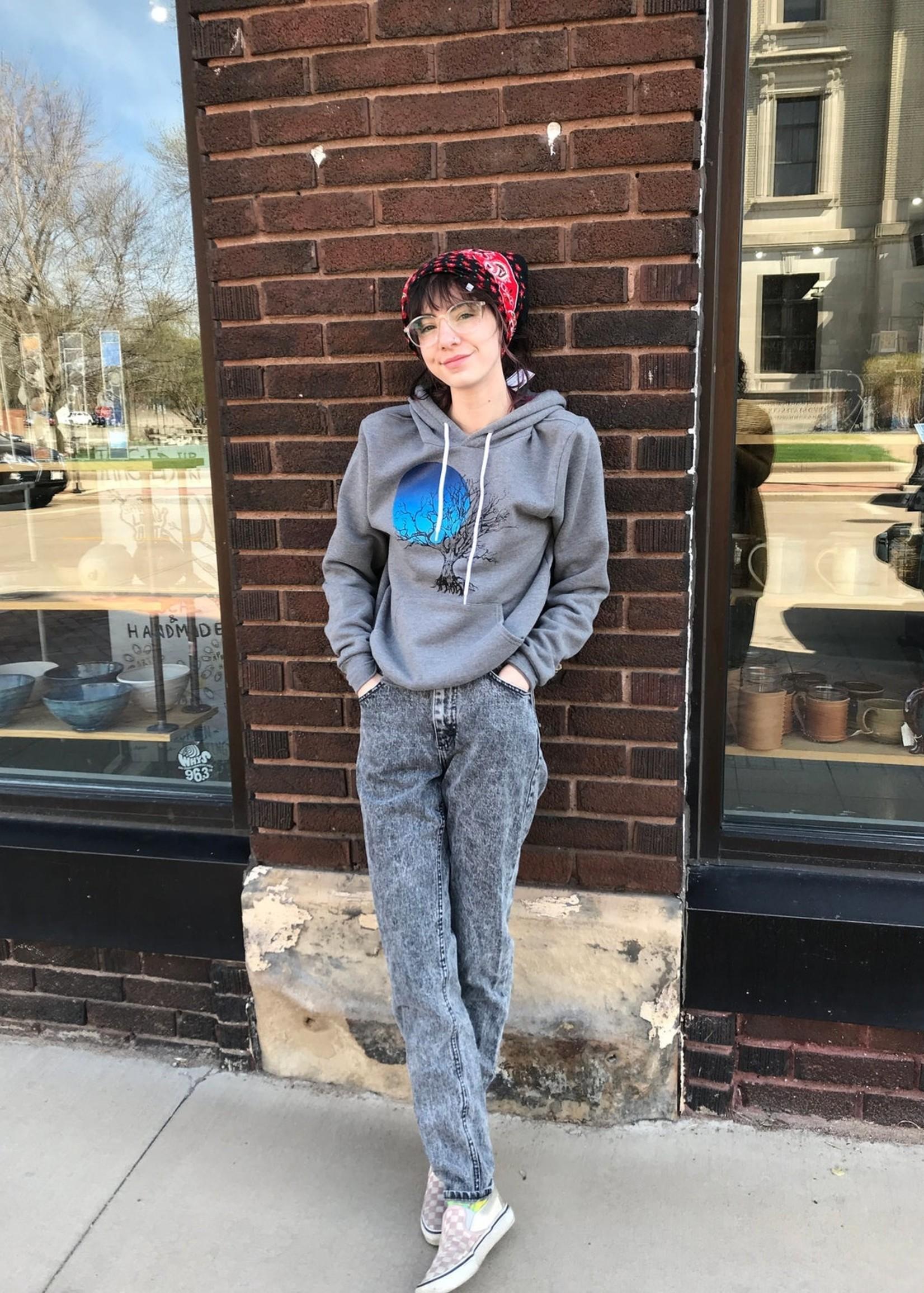 Perry Tree / Blue Moon Adult Hooded Pullover Sweatshirt