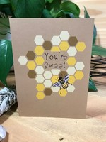 Greeting Card - You're Sweet - Honey Bee