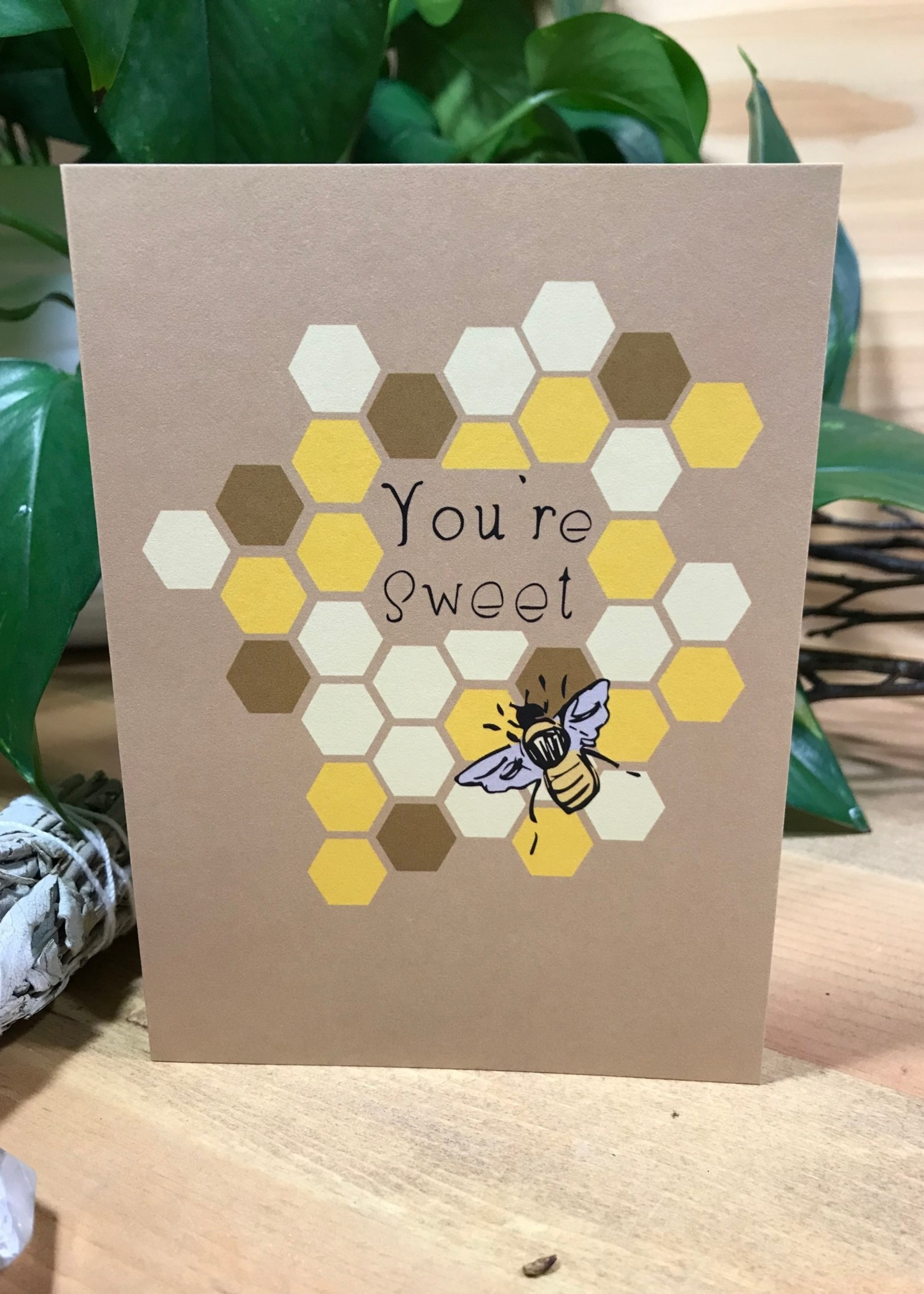 Greeting Card - You're Sweet - Honey Bee