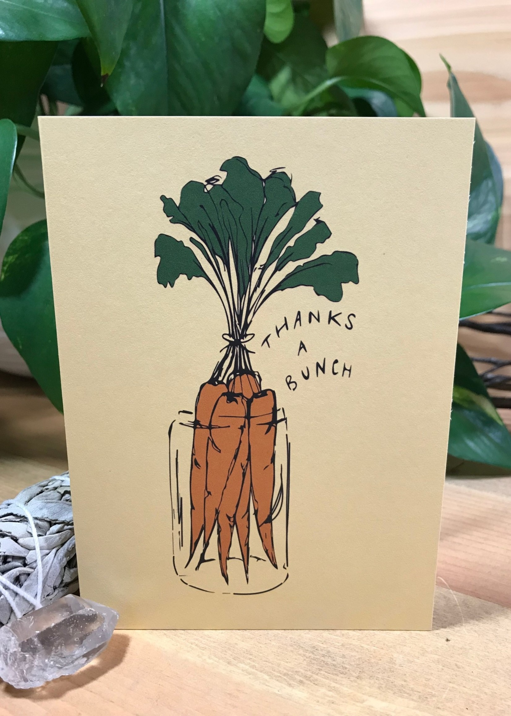 Greeting Card - Thanks A Bunch - Carrot
