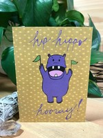 Greeting Card - Hip-Hippo Horray