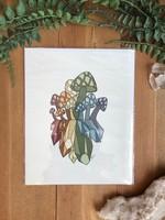 Mushroom Crystal Print