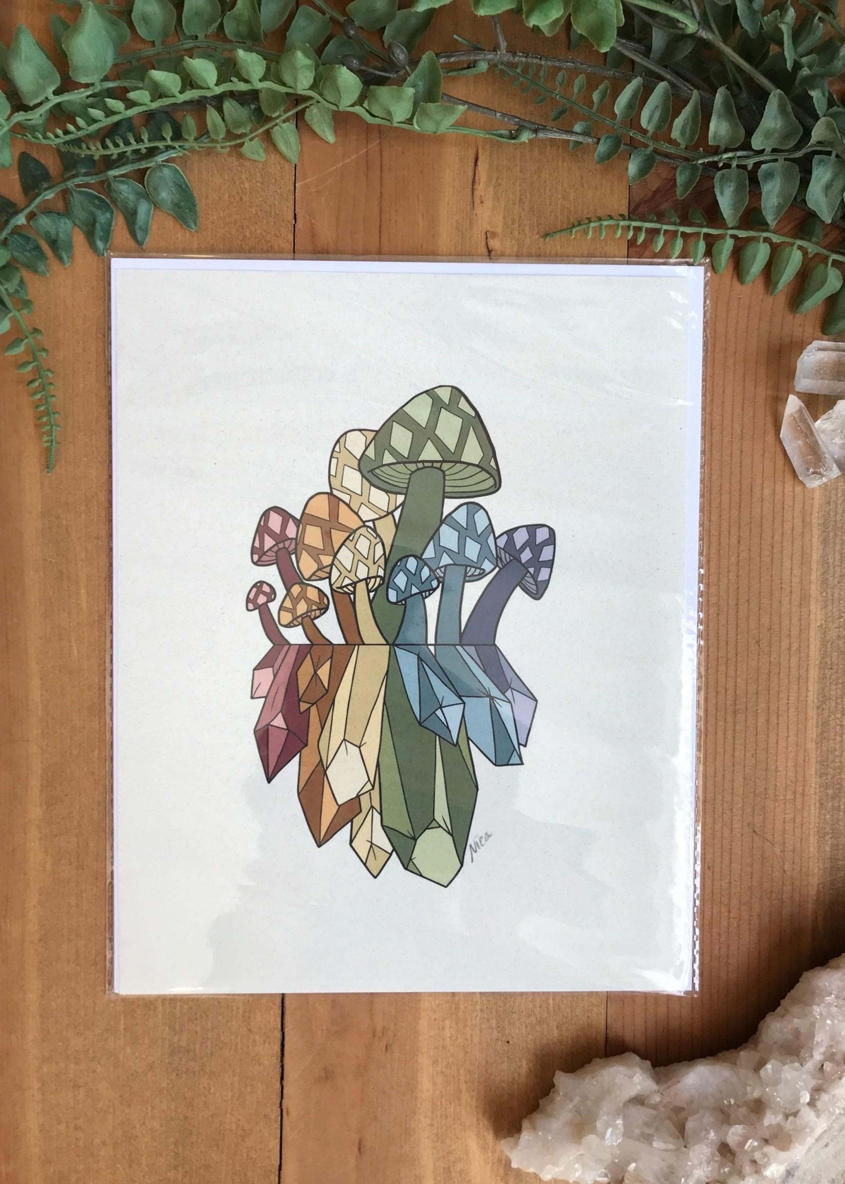 Mushroom Crystal Prints