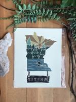 MN Lake Print