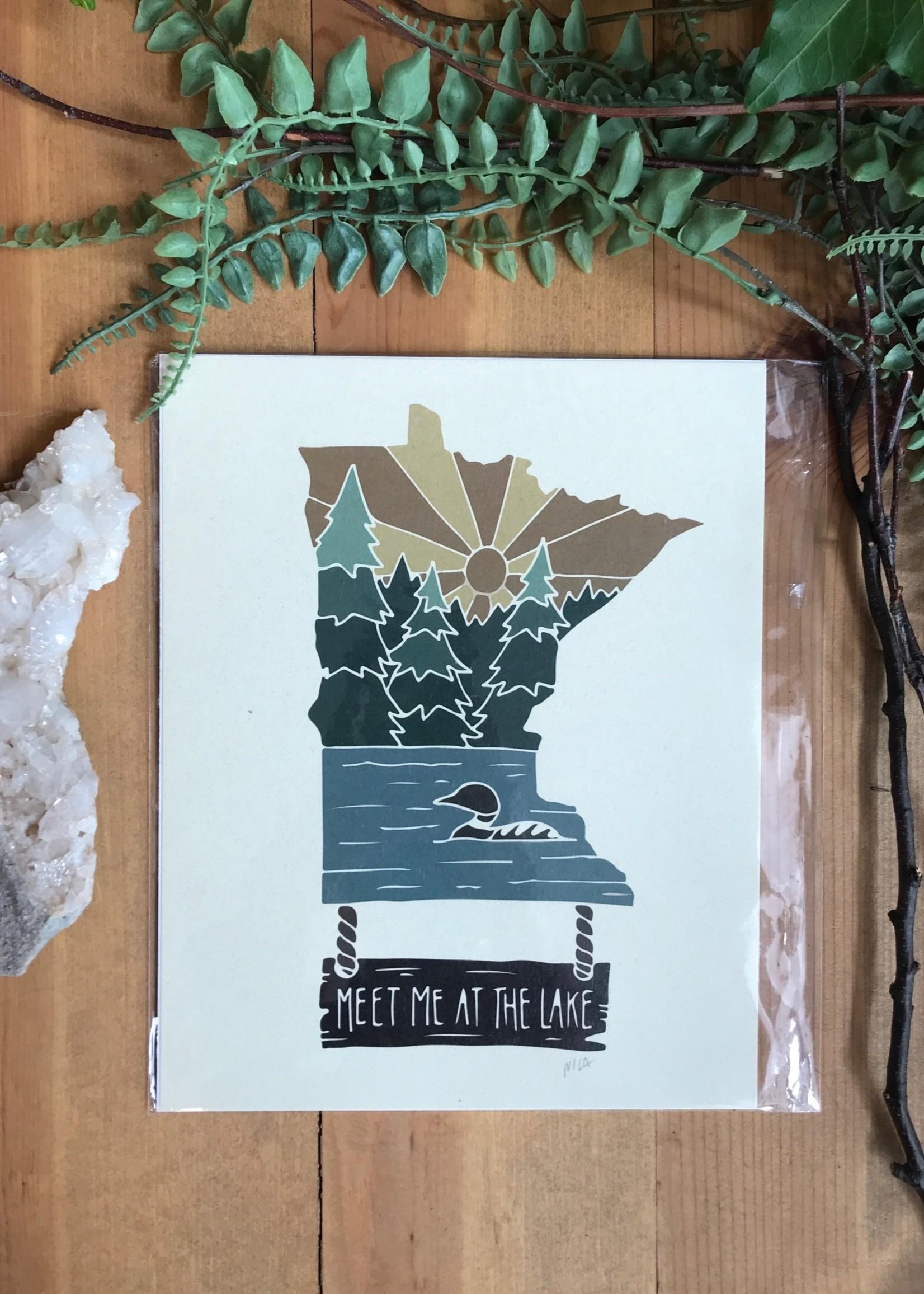 MN Meet Me at the Lake Print