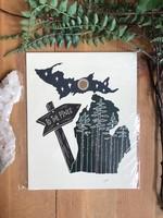 MI Pines Print