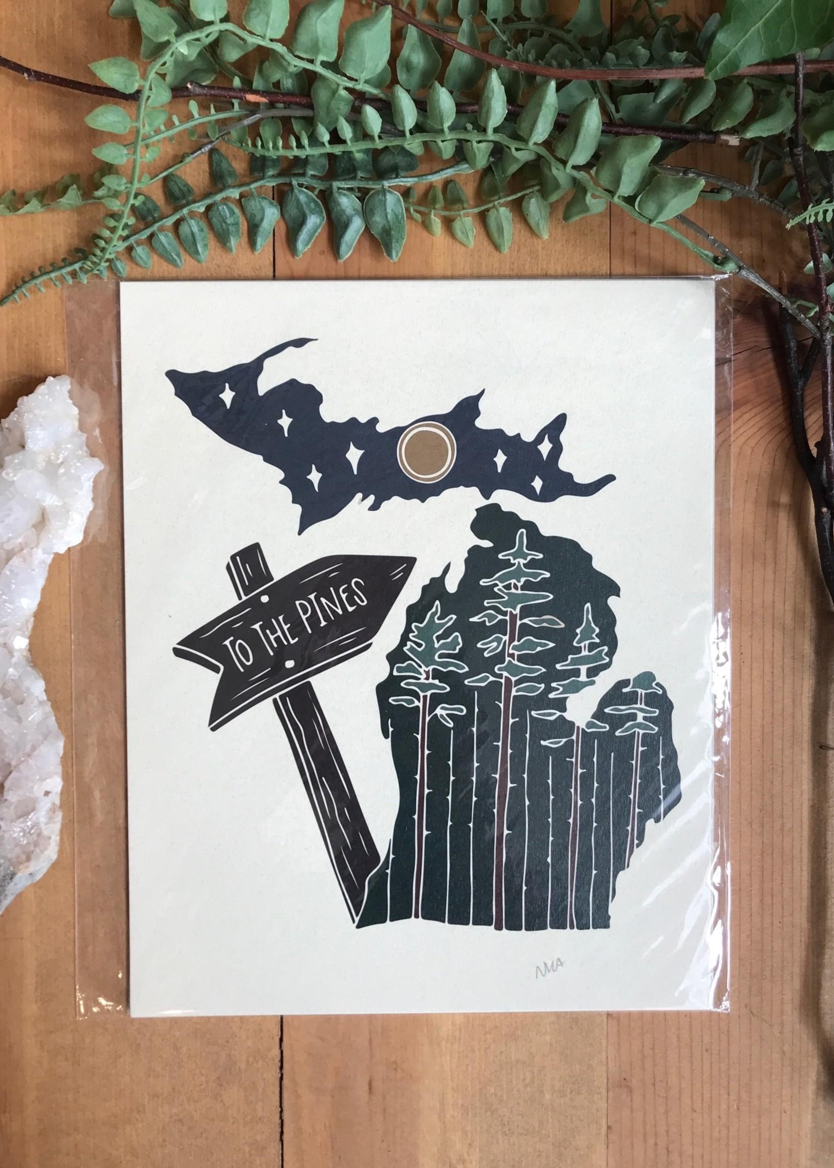 Michigan To the Pines Print
