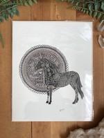 Feminine Horse Print