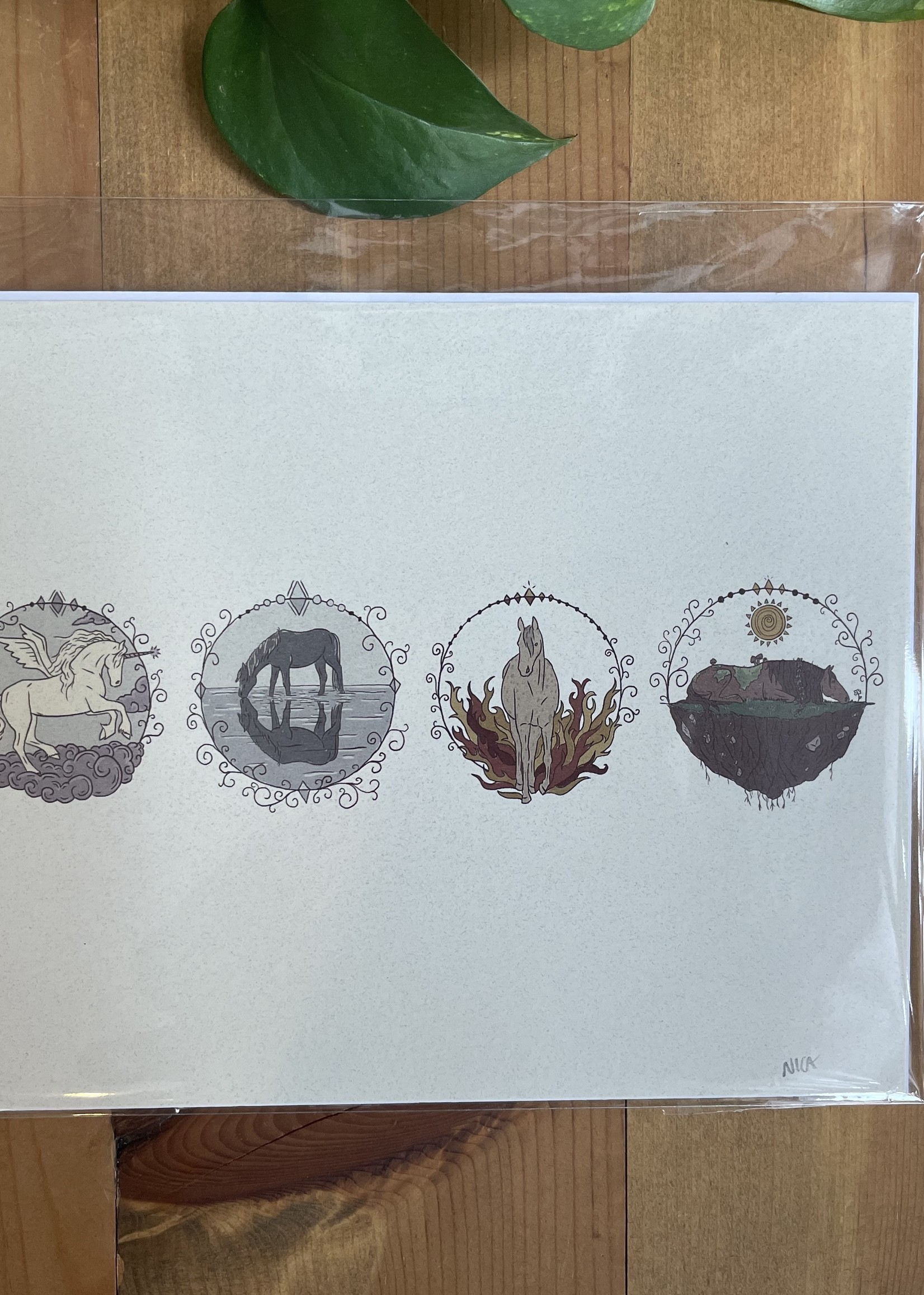 Element Horses Print