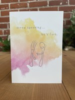 Greeting Card - Screw Spooning, Let's Fork