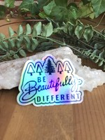 Sticker - Be Beautifully Different Holographic