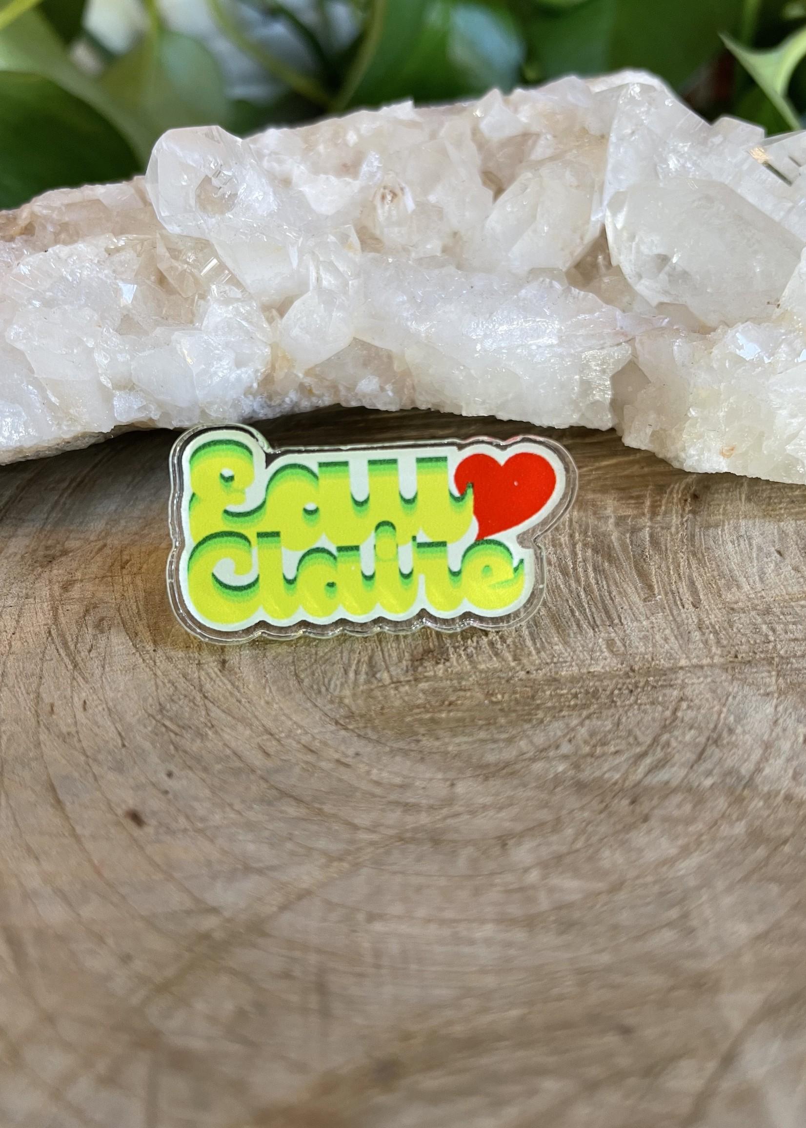 Acrylic Pin - Eau Claire Heart