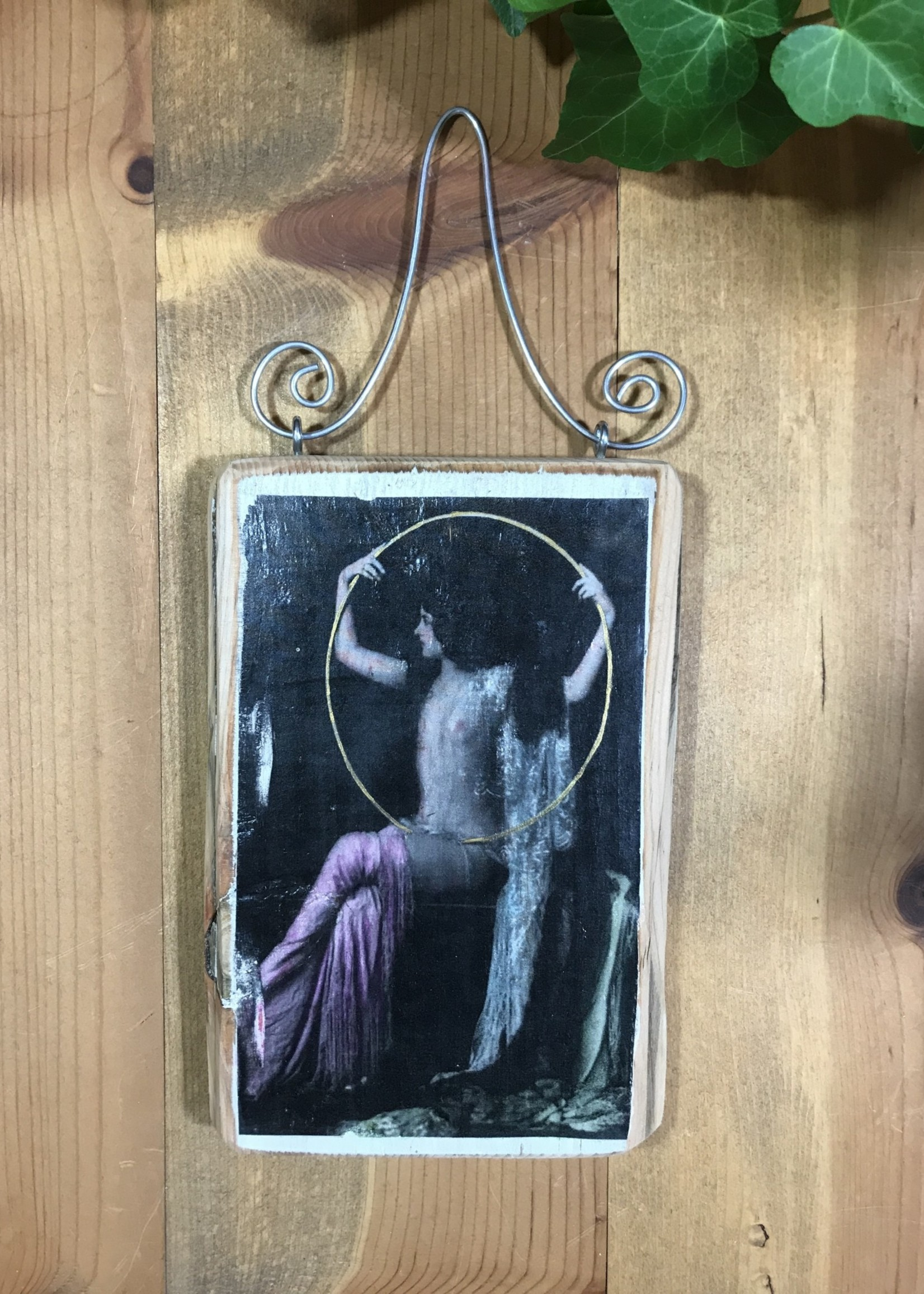 Woman with ring plaque