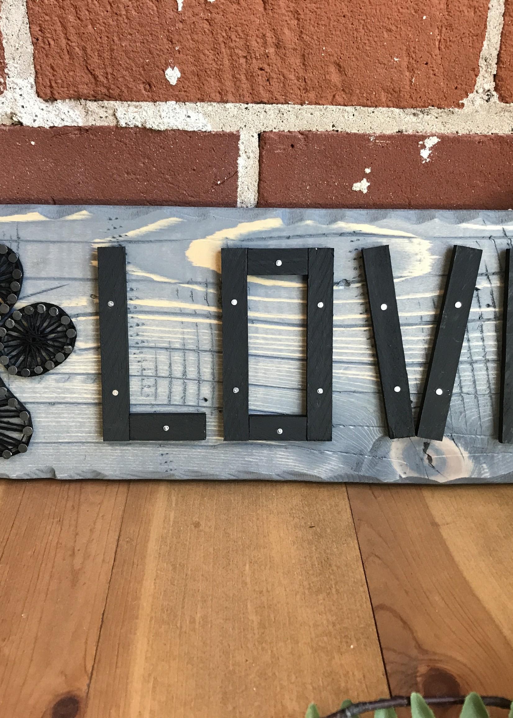 Paw Love String Art - Grant and Sandy Burdick