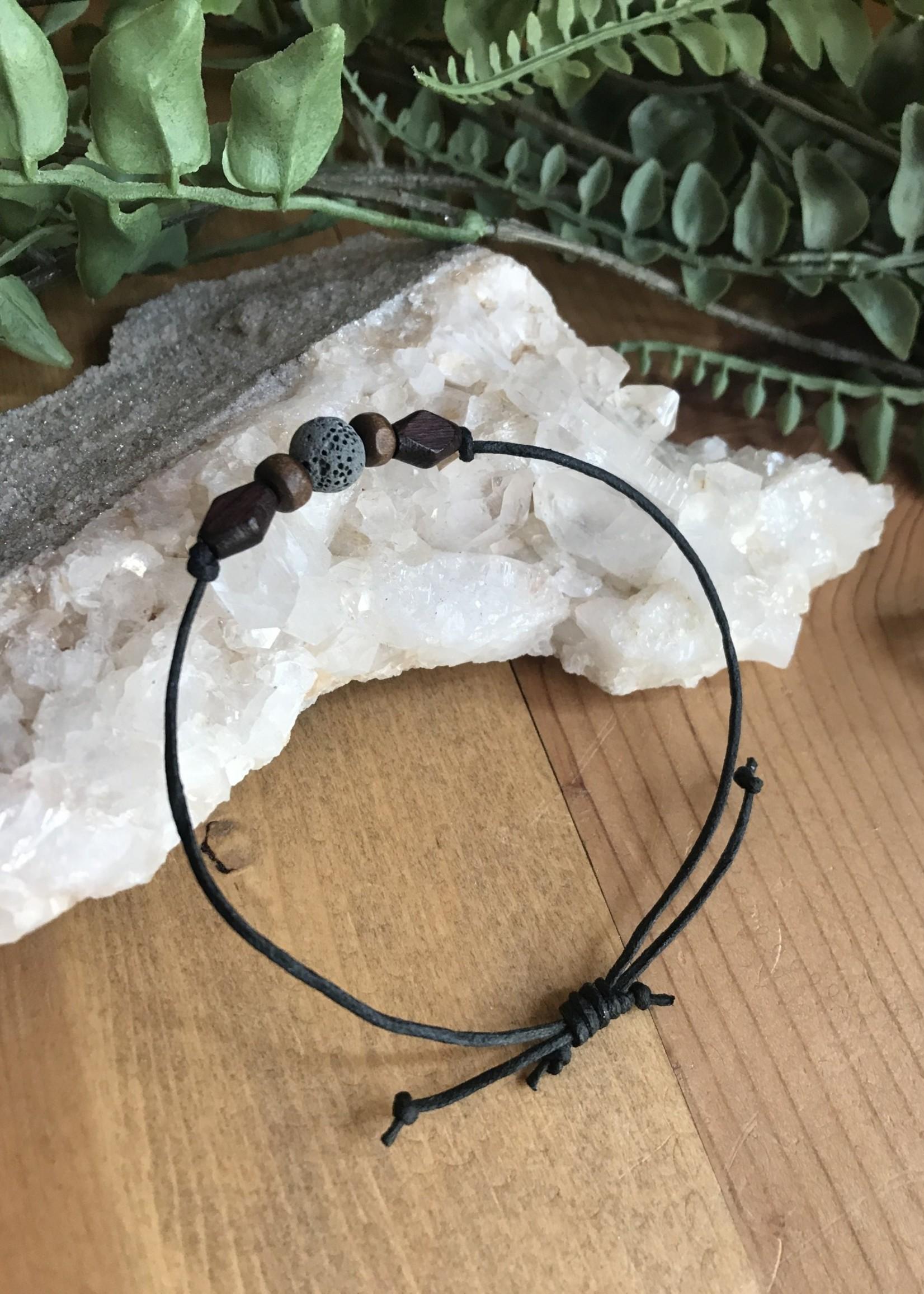 Adjustable Lava Bracelet - Black
