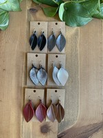 Leaf Shape Earrings by Melissa Sue