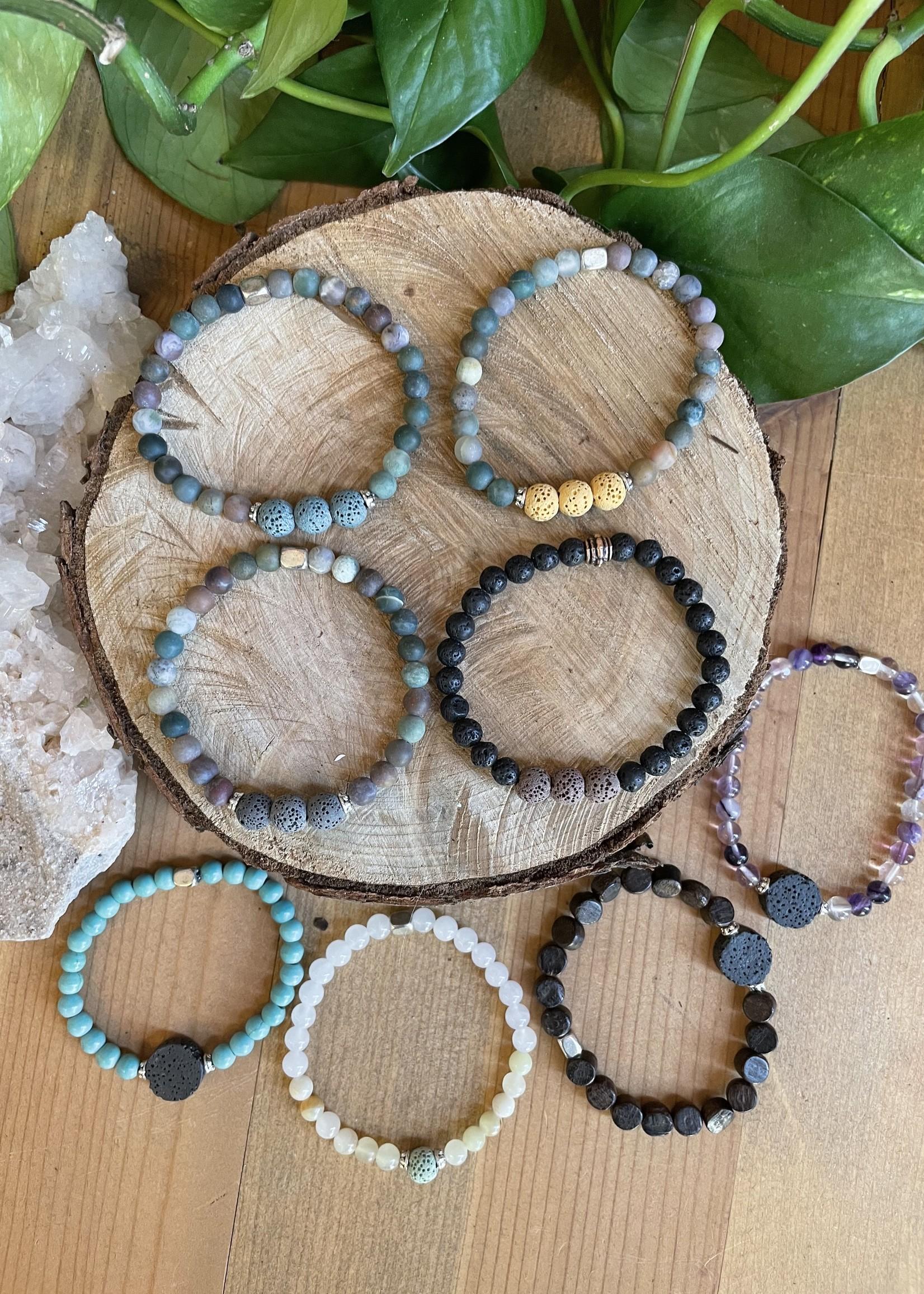 Stretch lava stone bracelets