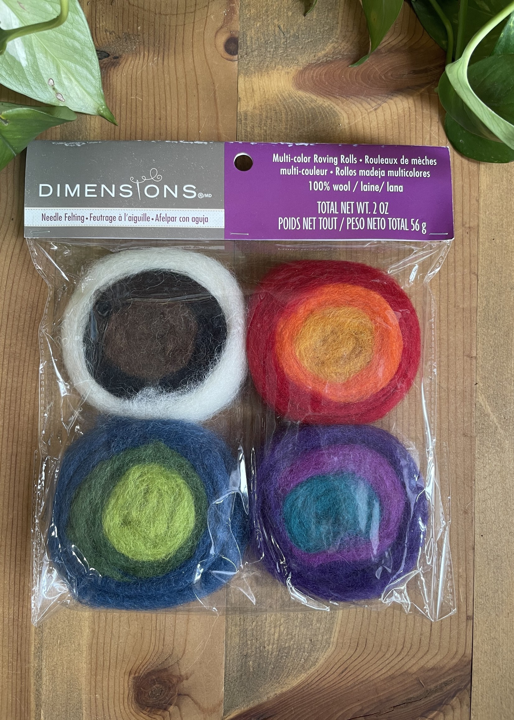 Dimensions multi color roving rolls