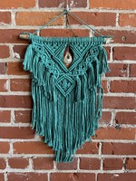 Blue Boxer Arts Fiber Art Macrame Wall Hanging - Marielle with Agate