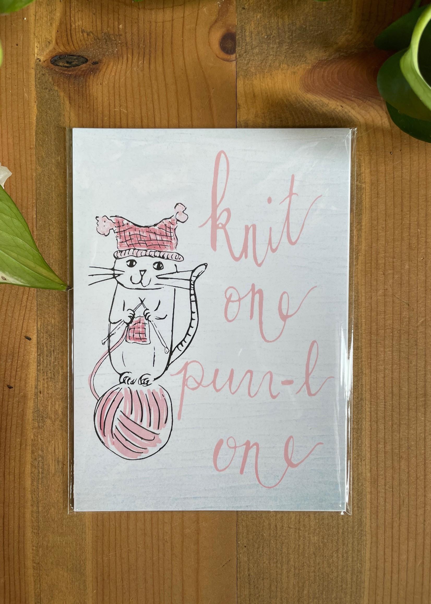 Knit One Purr-l One 5x7 Print